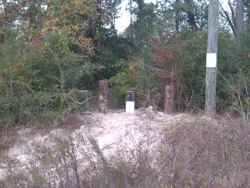 ATV Barricades provided by Harris County Pct 4 Parks.