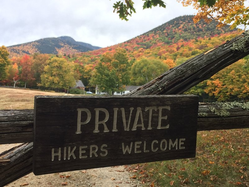 Trail passes on private property but hikers are welcome!