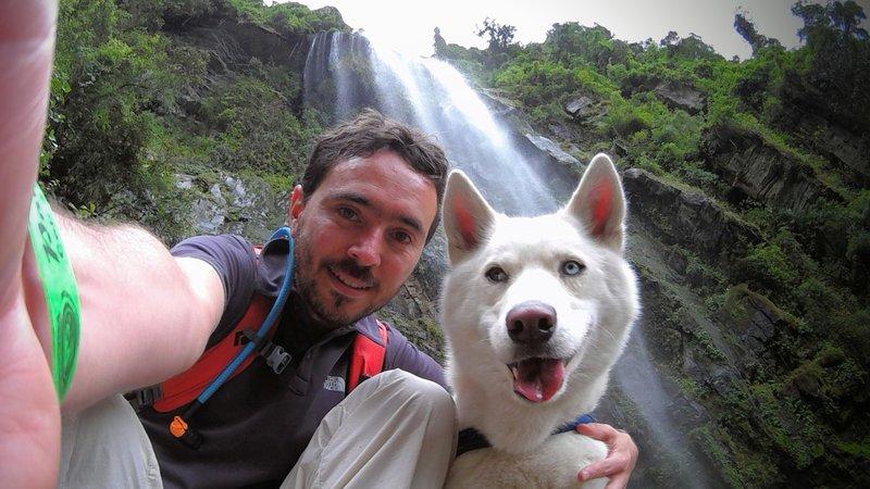 At the bottom of La Chorrera Waterfall.