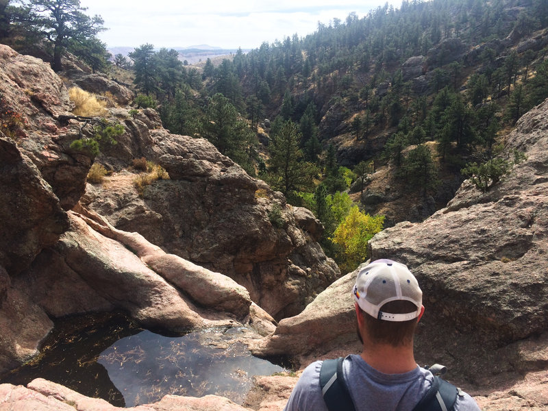 Top of a dry Horsetooth Falls.