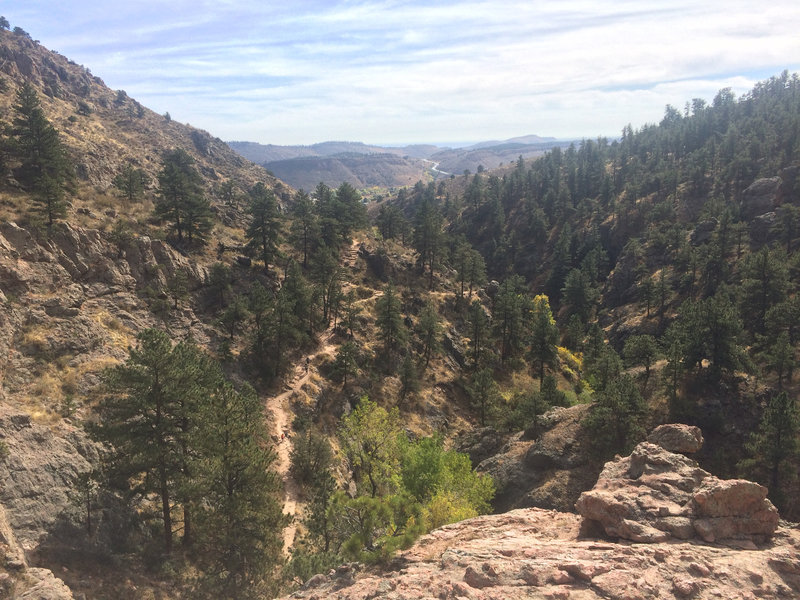 Trail back from Horsetooth Falls.