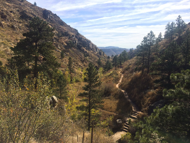 Horsetooth Falls – well-maintained trail.