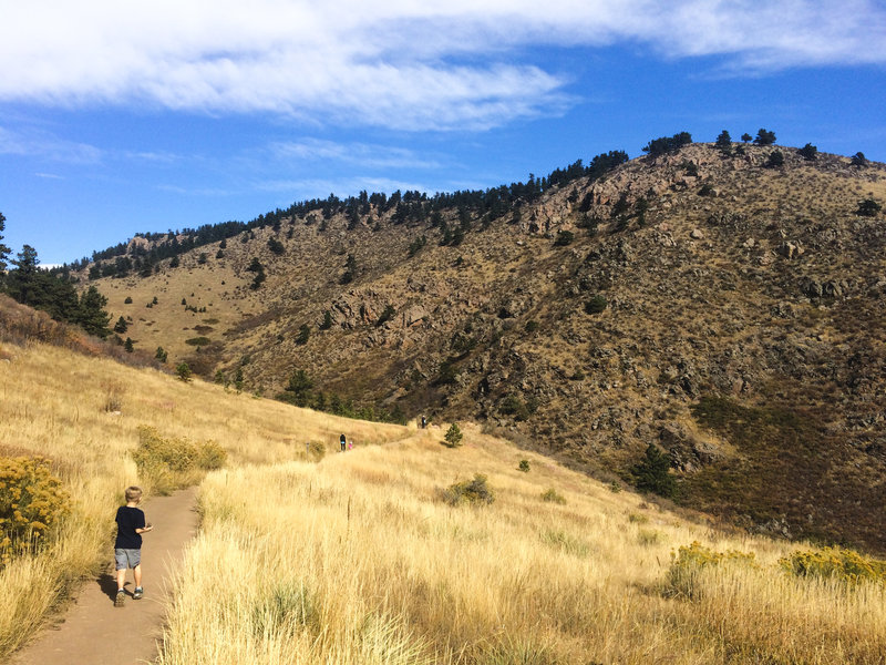 Heading up to the Horsetooth Falls
