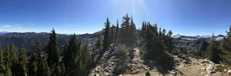 360 view from pass on Old Caribou Trail.