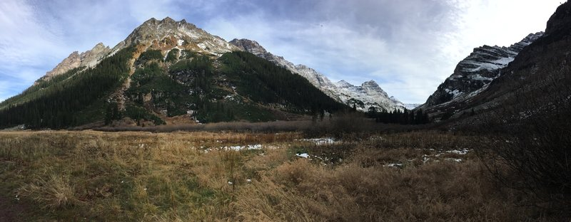 There's beautiful scenery almost the entire way along the West Maroon Trail!