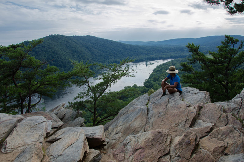 Looking down at the Potomac from the Weverton Cliffs.