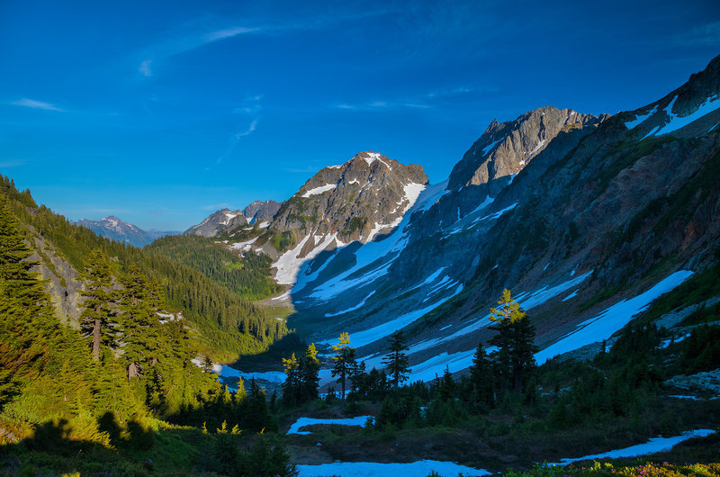 Cascade Pass.  On the Ptarmigan Traverse, this point is where you turn photo-right and start route-finding off the trail.