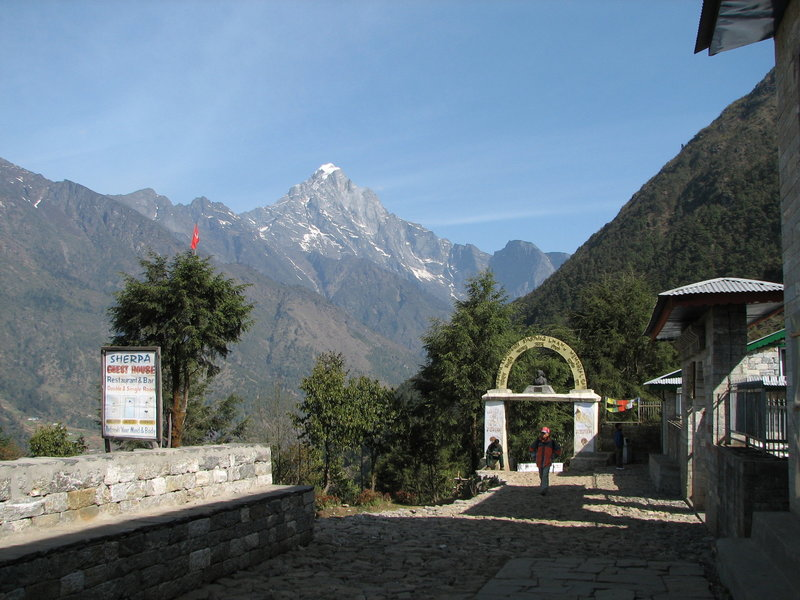 Nepal - Sagamartha Trek. First trek view.