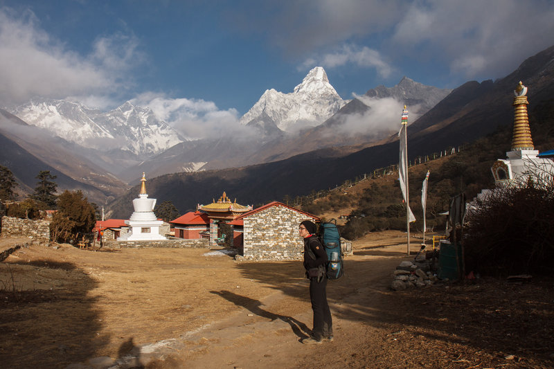 Just climbed up to Tengboche.
