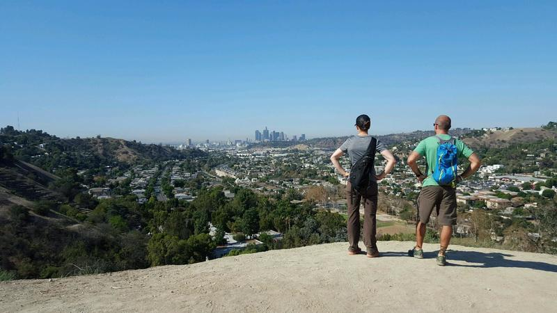 View of DTLA from the trail.