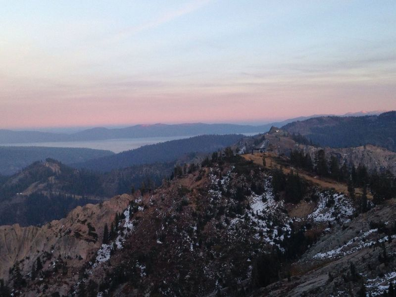 View from WildFlower Cafe (Squaw Valley), shortly after sunset.