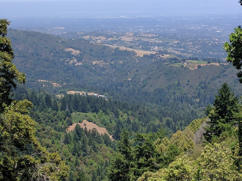 View from the crest of John Nicholas Trail.