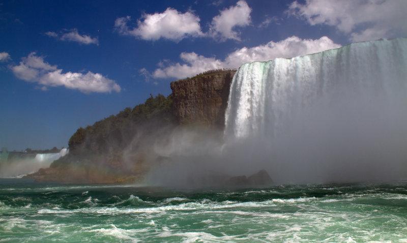 Niagara Falls from the water.