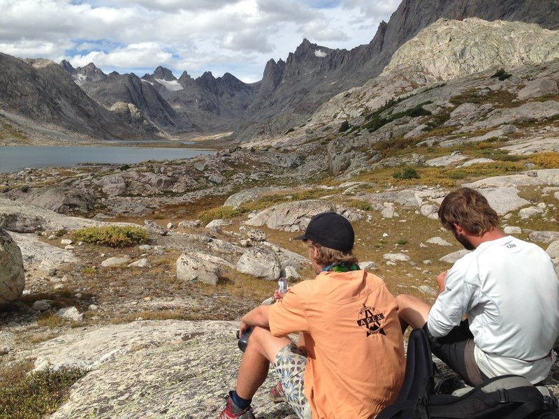 Gu with a view at Titcomb Basin.