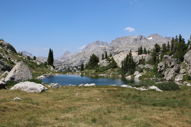 One of many small lakes along the Titcomb Basin trail.