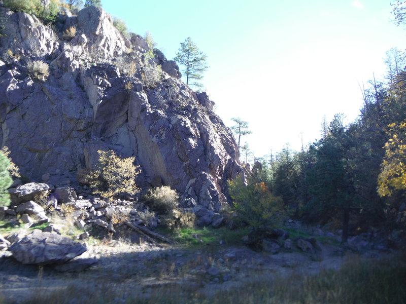"This is the narrow rendija or ""aperture"" through which Rendija Canyon flows."