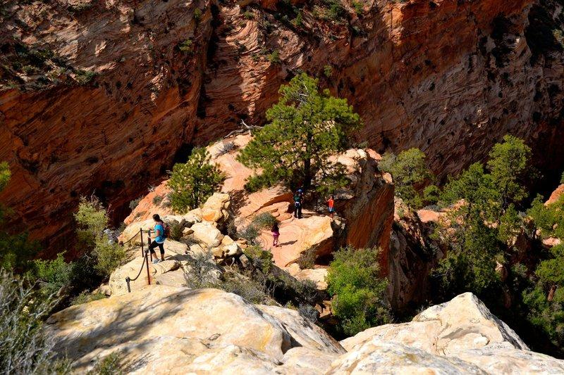 Descending Angel's Landing Trail.