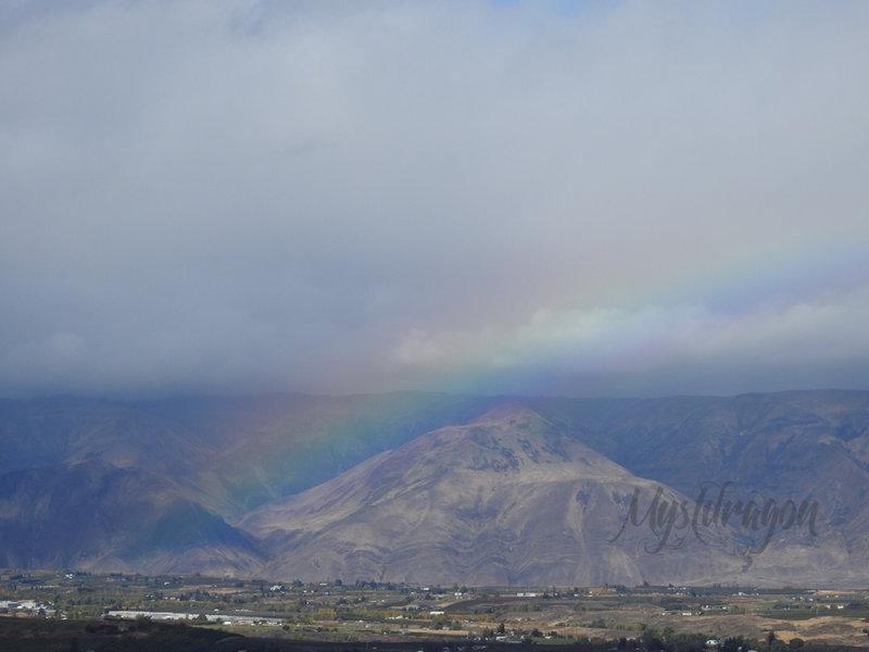 Rainbow over highland.