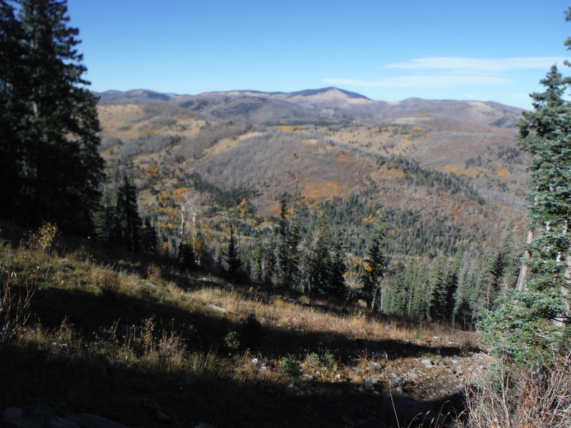View of Caballo Mountain to the north of Pajarito Mountain.