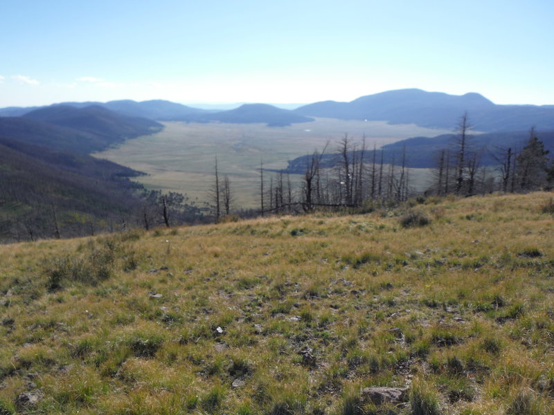 Valles Caldera National Preserve looking west from Pajarito Mountain.