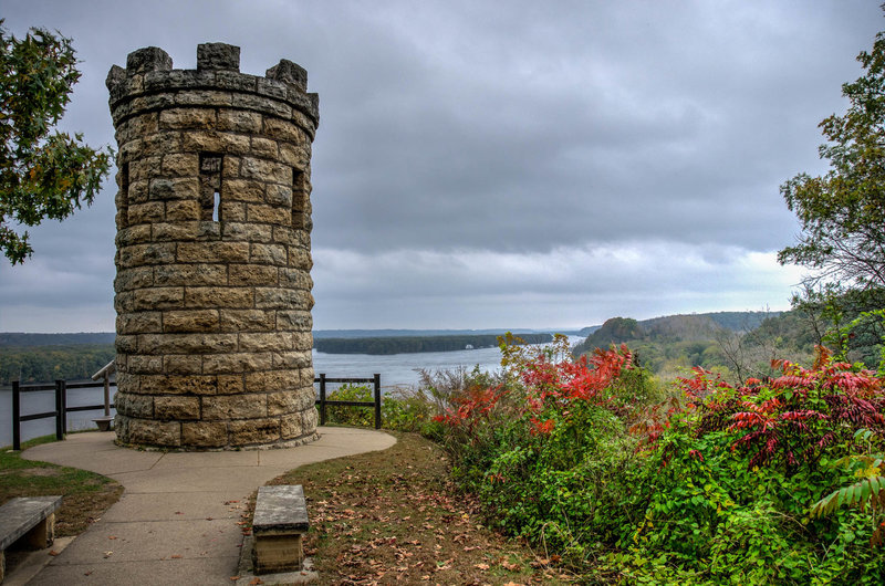 The Julian Dubuque Monument and lookout point.