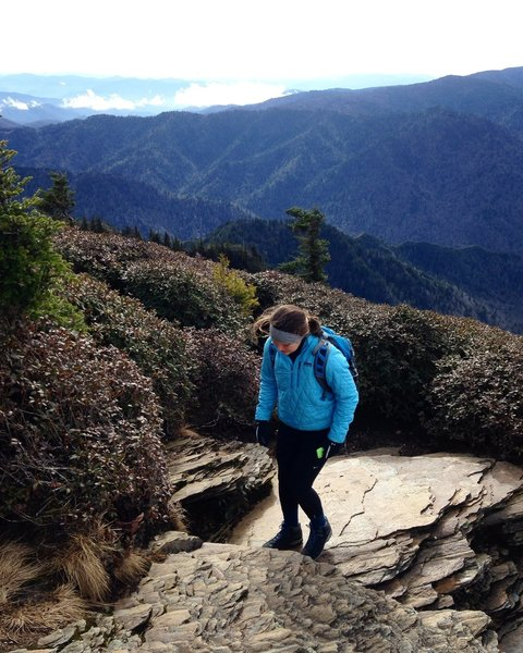 Summiting Mt. LeConte