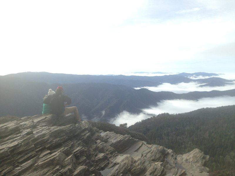 Taking in the view on the summit.