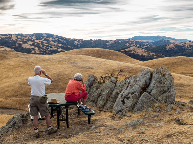 Couple viewing the scenery on the Aquila Loop Trail.