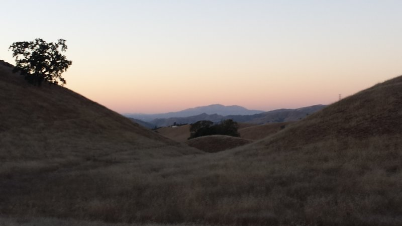 East Bay hills from Aquila Loop Trail.