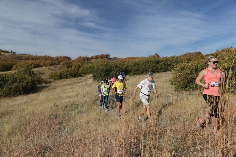 Runners traverse the Yellow Loop during the Ridgeline Trail Races.