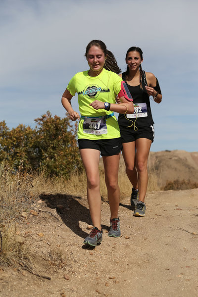 Runners near the finish of the Ridgeline Trail Races.