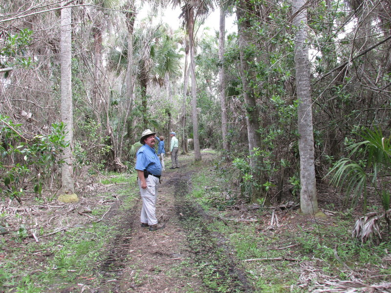 Our volunteer Master Naturalists scouting the Sunflower Trace Trail for a guided hike.
