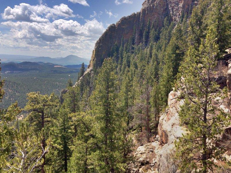 Looking West from the Elk Falls overlook.