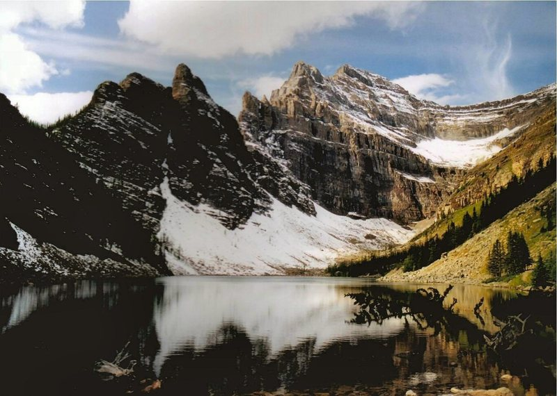 Lake Agnes from teahouse.