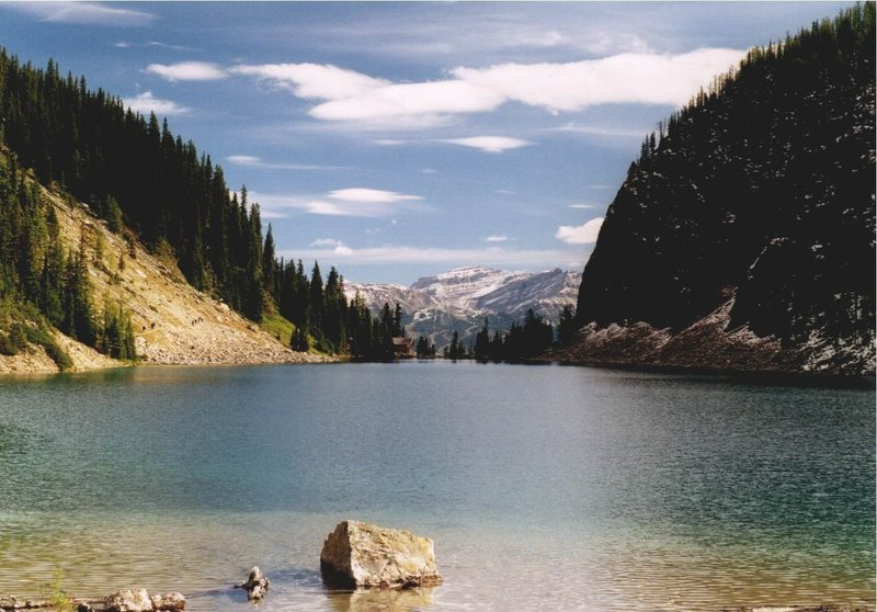 Lake Agnes from west shoreline.