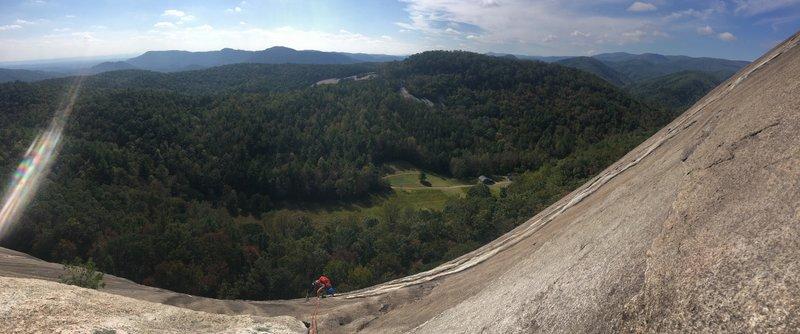 Climbing Stone Mountain.