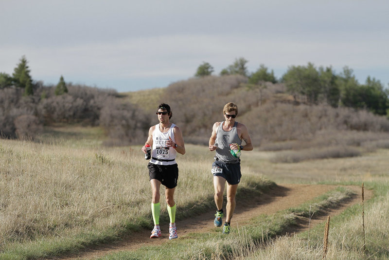 Runners in the Greenland Trail Races.
