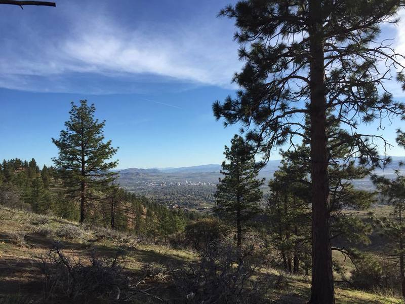 Views of Reno from the Old Lookout Peak.