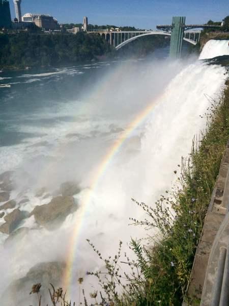 A double rainbow from Bridal Veil Falls.