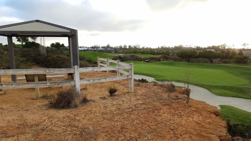 As soon as you reach the top of the hill, you'll have unobstructed ocean and golf course views to the west.