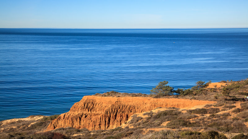 A view from the trails in Torrey Pines State Reserve.