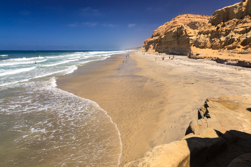 The area of the beach that the Torrey Pines State Reserve trails lead to...