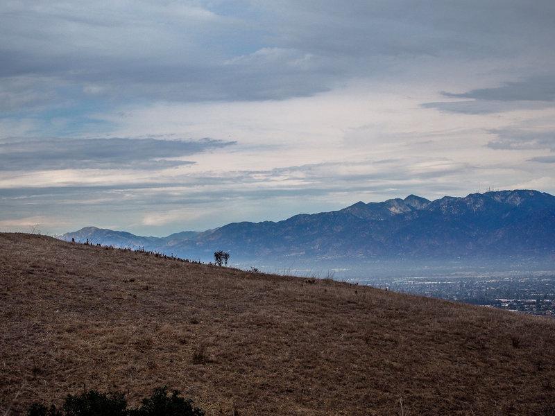 Looking towards the San Gabriel Mountains.