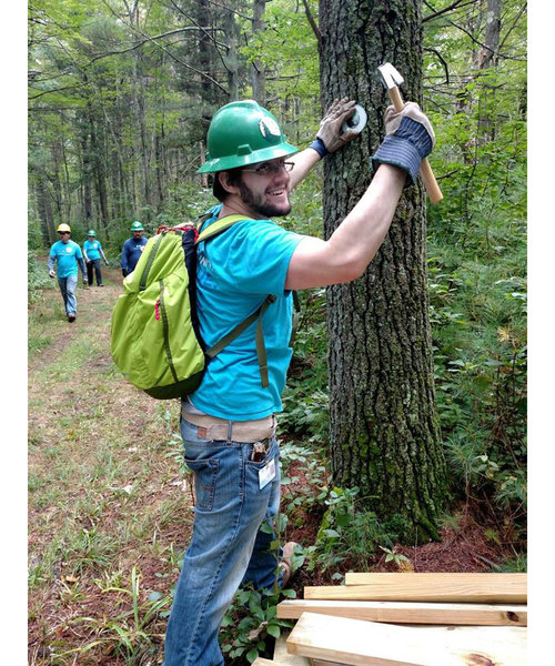 Trail work has been conducted by the Appalachian Mountain Club.