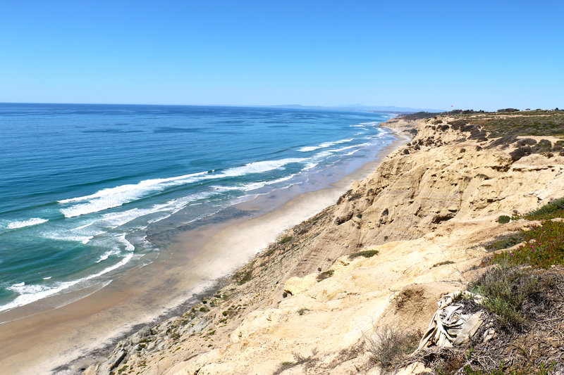 Beautiful coastline at Torrey Pines State Beach.