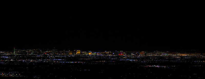 View of the Strip from the peak.