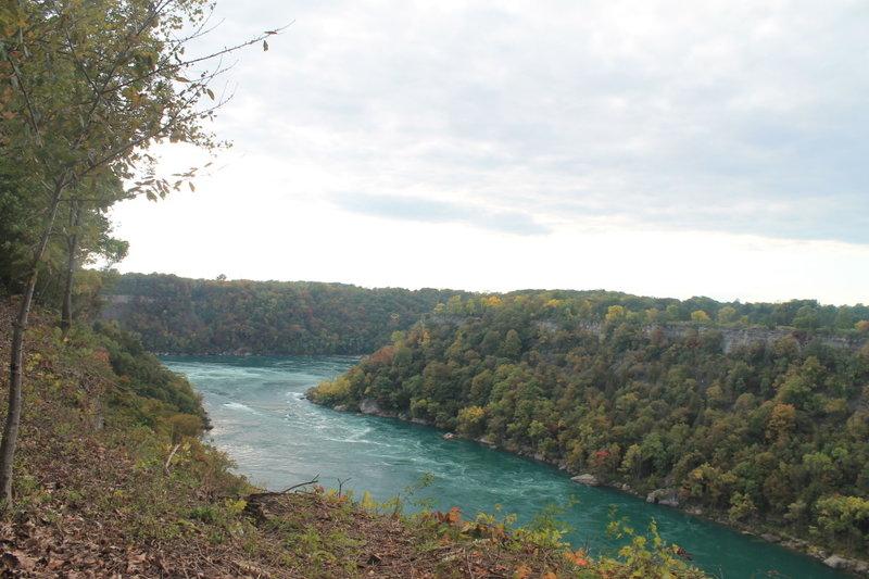 The Niagara River as seen from the Niagara Gorge Rim Trail.