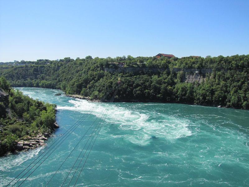 Whirlpool and an aero car at Niagara Falls.