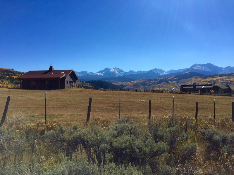 Private home at the trailhead with a view of the Gore Range.