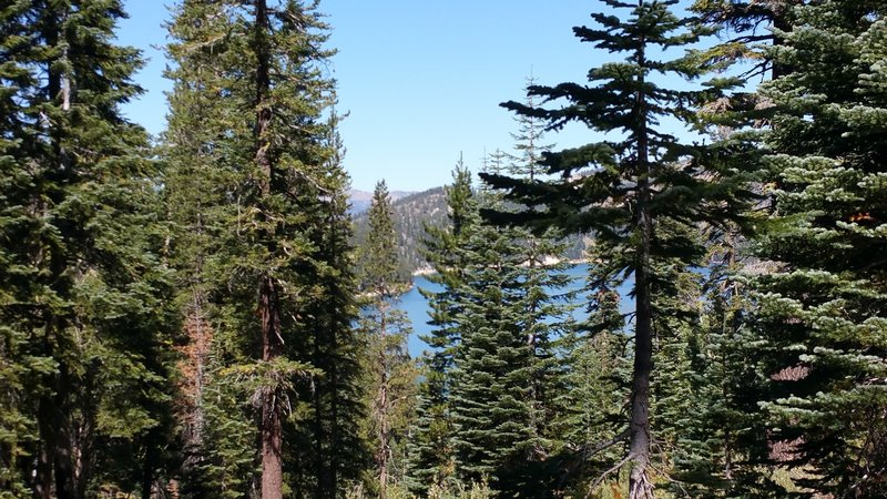 View of Marlette Lake from trail.